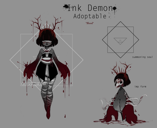 Ink Demon *blood* [closed] by missusruin