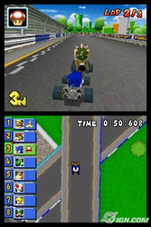Sonic in Mario Kart by rangeTE