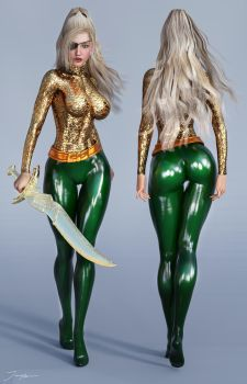 Character Reference Aquawoman E11 by tiangtam