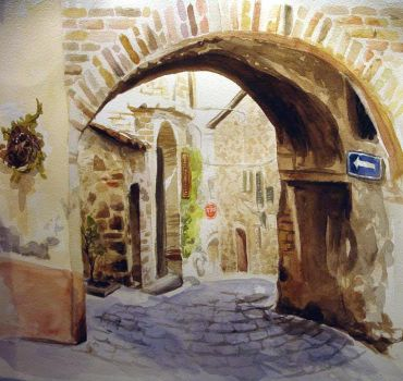 Tuscan Archway by wikkedvenus