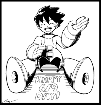 Weekend MS Paint: Happy Rockman Day by SaitoKun-EXE