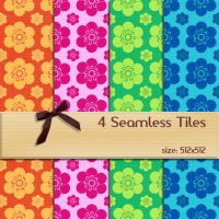Seamless Floral Tiles 2 by BubbleCloud
