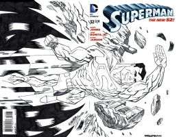 SUPERMAN SKETCH COVER by drawhard