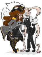 Gaiaonline - Bonny Lass Minty and Israphal by ThePeten