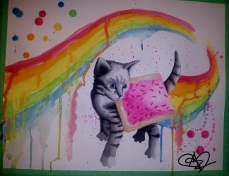 Nyan Cat  by Audrey-Zombie