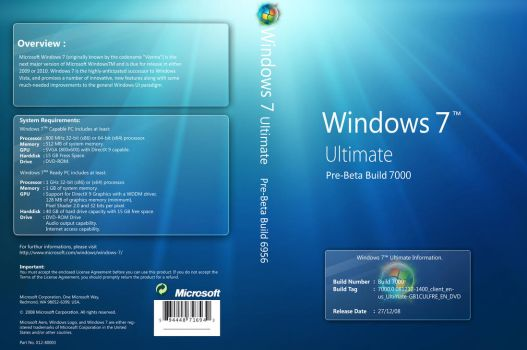 Windows 7 Cover Build 7000 by bigboybalkis94