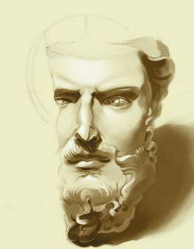 Classic sculpture study, final by ignilibrium