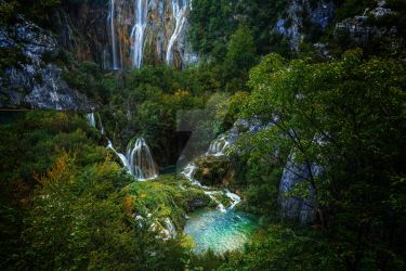 Waterfall Plitvice Croatia by rudoma
