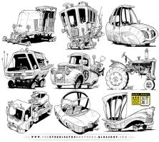 9 Monster Vehicle concepts by STUDIOBLINKTWICE
