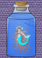 Mermaid in a jar by guigadj
