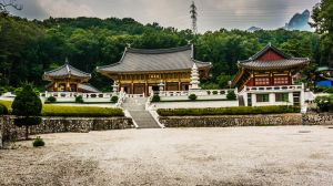 Temple in a park near Seoul, Korea by thebxs