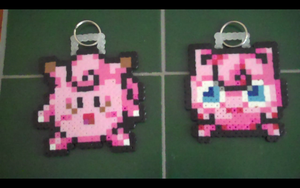 Gifts: Clefairy and Jigglypuff Keychains by SuzuriHeinze
