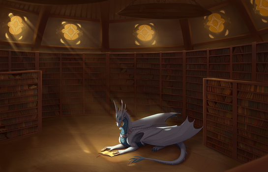 The Drake and his Library - Coyrin by Denodon
