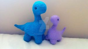 Long Neck Dinos by kurenemuu