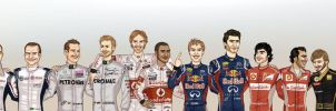 Formula 1 2011 line-up by xelanelho