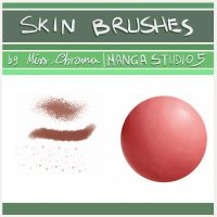 5 Skin Brush for Manga Studio 5/CLIP Studio Paint by MissChroma