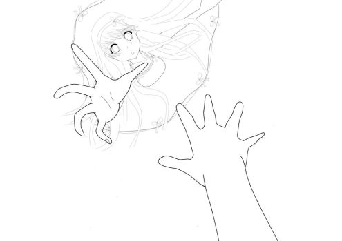 Reach For My Hand- Line-Art by Arqenloce