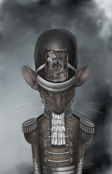 Steampunk Soldier Mouse by ZBonez