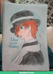 .:Leon sketch colored:. by FireKitten86