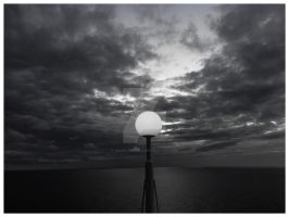Ship lamp post against the Sea by rahulmukerji