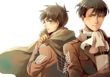 Eren and Levi by sdPink