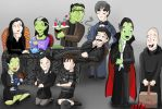 Munsters Meets Addams Family by KarToon12