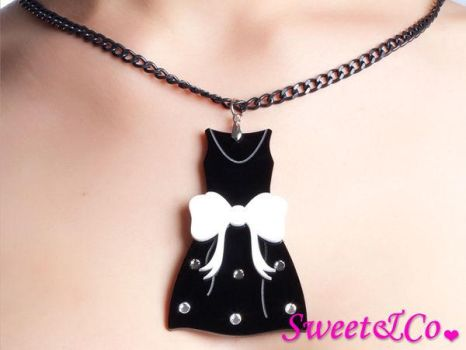 LBD Dress Swarovski Necklcace by SweetandCo