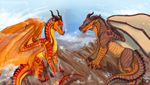 Wings of Fire - Peril and Clay by Biohazardia