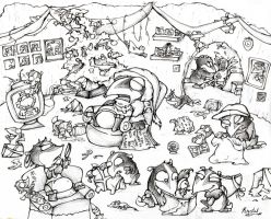 Gary the badger's Christmas by nef
