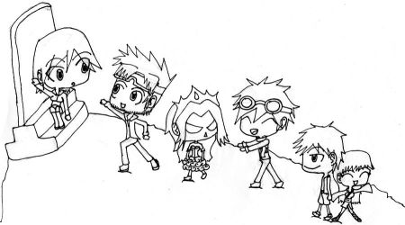 Comatose: The Chibi Gang in Black and White by KonekoRdz