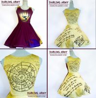 Gravity Falls Dipper Journal Cosplay Dress by DarlingArmy