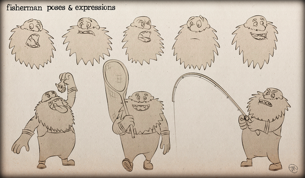 fisherman expression sheet by zarpex