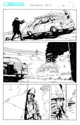 Deb Daring Comics - inked page 1 by Darry