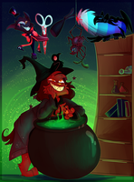Webbed Witchery (COLLAB) by NoasDraws
