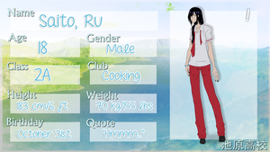 [Ikehara High] Ru Saito by xod4ox