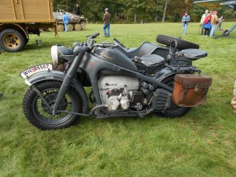 WW-2 Sidecar motorbike by TylerFreeFlight