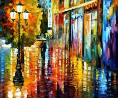 Lost In The Rain by Leonid Afremov by Leonidafremov