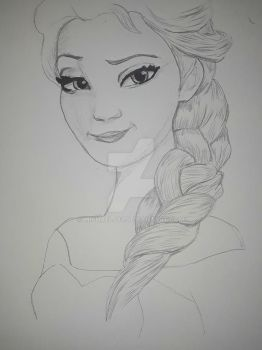 Work in progress drawing of Elsa #2 by MichaelJ83