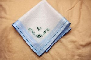 Initial Hankie 2 by VickitoriaEmbroidery