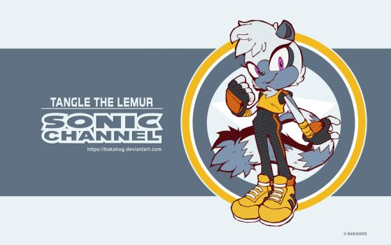 Tangle The Lemur - Sonic Channel 2018 Style by Bakahog
