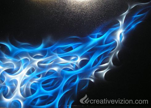 blue and white flames by rawza86
