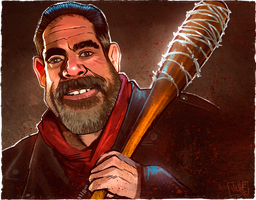Negan and Lucille by JakkeV