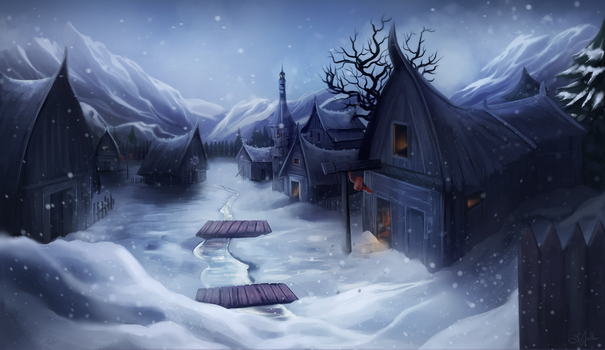Norse Village by SandraWinther
