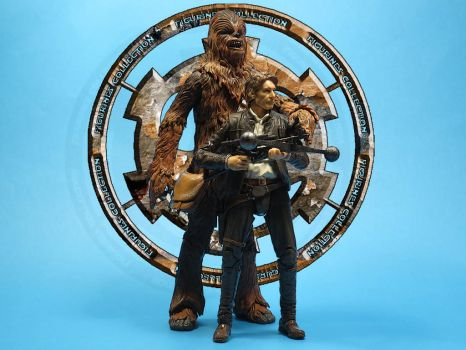 Han Solo and Chewbacca The Force Awakens by FigurinesCollection