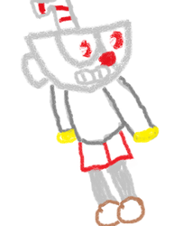 Cuphead in paint by story57