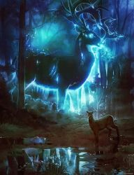 Spectral Stag by ghostfire