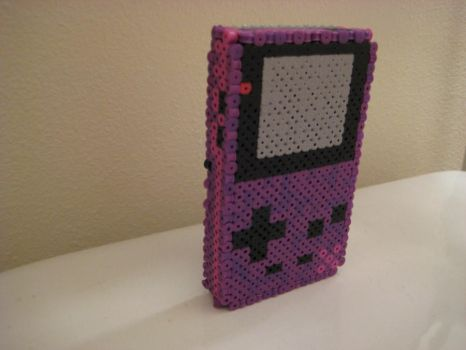 3-D Gameboy color perler 1 by Birdseednerd