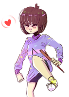 Lazy Frisk Drawing by Ironic-Melon