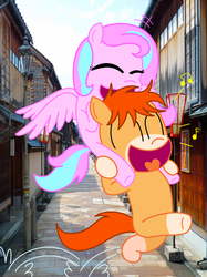 Carrying my girlfriend home (Colored) by xXMaiKhanhFlareXx