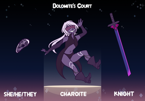 Dolomite's Court: Charoite by eternalflame612